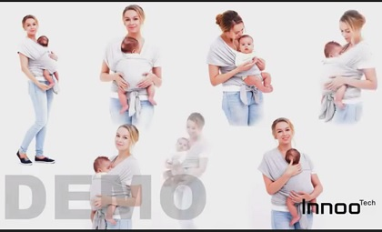 Image: Innoo Tech Baby Sling Carrier Natural Cotton Nursing Baby Demo