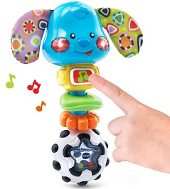 Image: VTech Baby Rattle and Sing Puppy | music button plays fun phrases, sounds and songs; features 20+ songs, melodies, sounds and phrases