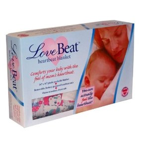 Image: Love Beat Heartbeat Baby Blanket - Comfort your baby with the feel of mom's heartbeat