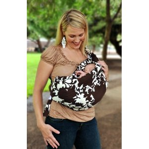 Image: Peanut Shell Adjustable Baby Sling: fashionable, durable and comfortable baby sling adjustable for babies between 6 and 26 pounds
